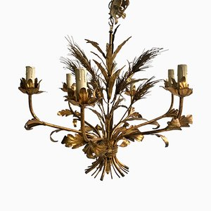 Vintage Italian Wheat-Sheaf Chandelier