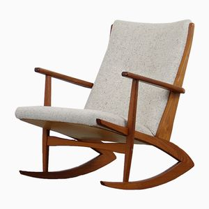 Teak Rocking Chair by Georg Jensen for Tønder Møbelværk, 1950s