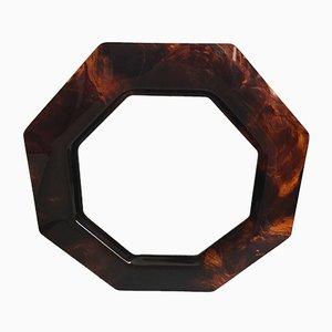 Espejo vintage octogonal de lucite