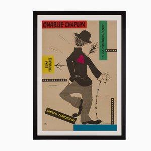 Affiche de Film The Charlie Chaplin Festival par Roman Ciescewicz, Pologne, 1957