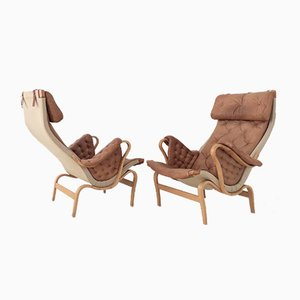 Pernilla Armchairs by Bruno Mathsson for Dux, 1970s, Set of 2