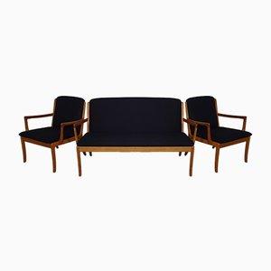 Teak Sofa und 2 Sessel von Ole Wanscher für Cado, 1960er