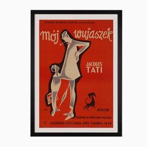 Affiche de Film Mon Oncle par Pierre Etaix, Pologne, 1959