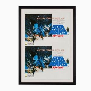 Ungeschnittenes japanisches Star Wars Probedruck-Poster, 1978