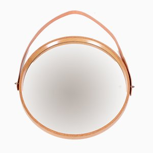Mid-Century Oak Mirror by Uno & Östen Kristiansson for Luxus