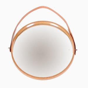 Miroir Mid-Century en Chêne par Uno & Östen Kristiansson pour Luxus