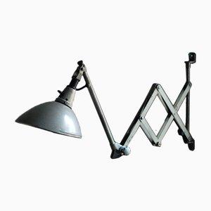 Lámpara acordeón modelo 110 vintage gris de Curt Fischer para Midgard