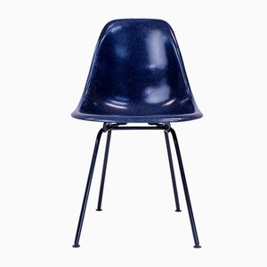 DSX Stuhl mit dunkelblauen & schwarzem Fuß von Charles & Ray Eames für Herman Miller, 1950er