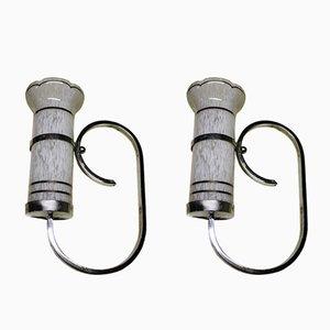 Lámparas de pared francesas, años 60. Juego de 2