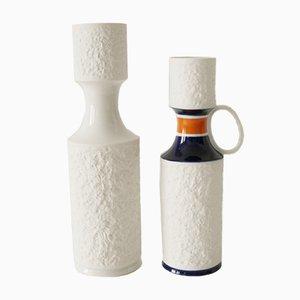Vaso in porcellana bianca di KPM, anni '60, set di 2