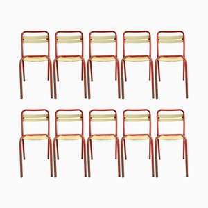 T2 Chairs by Xavier Pauchard for Tolix, 1950s, Set of 10