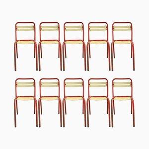 T2 Stühle von Xavier Pauchard für Tolix, 1950er, 10er Set