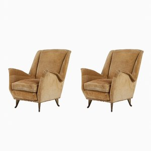 Wing Chairs from ISA Bergamo, 1950s, Set of 2