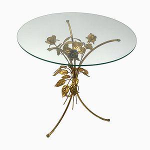 Vintage Gilt Metal Side Table by Hans Kögl, 1960s