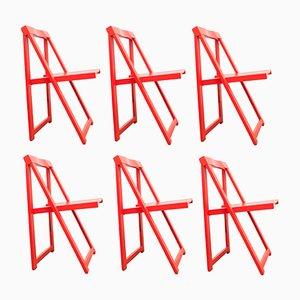 Chaises Empilables par Aldo Jacober pour Bazzani, 1970s, Set de 6
