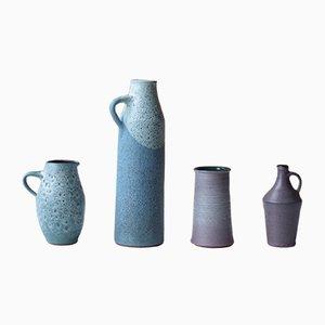 Mid-Century East German Vases from Töpferhof Römhild, Set of 4