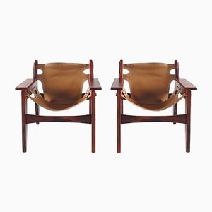 Kilin Lounge Chairs by Sergio Rodrigues for OCA, 1970s, Set of 2