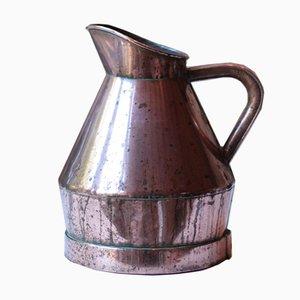 Großer antiker Winzerkrug aus Kupfer