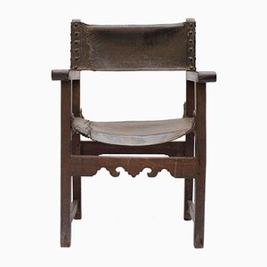 Antiker spanischer Friars Chair, 17. Jh.
