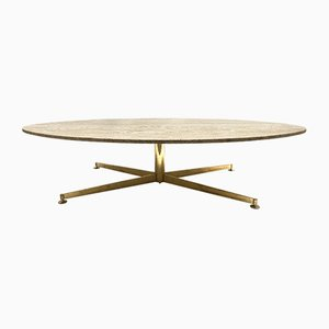Grande Table Basse en Travertin par Michel Kin pour Arflex, 1960s
