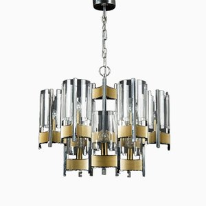 Italian Chandelier by Gaetano Sciolari for Sciolari, 1970s