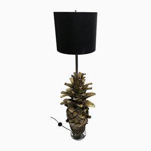 Lámpara de pie vintage con forma de palmera, años 60