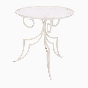 French Wrought Iron Garden Table, 1940s