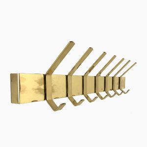 Vintage Brass Coat Rack, 1970s