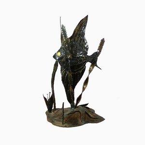Escultura vintage de un pez ángel de Mike Bucha