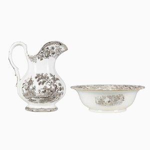 Brocca e scodella antiche in ceramica di Colandine