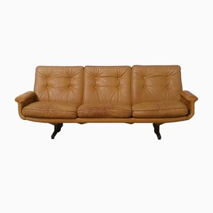 No. 126 Leather 3-Seater Sofa by Sigurd Ressell for Vatne Møbler, 1970s
