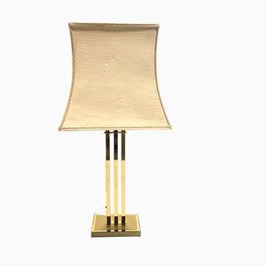 Lámpara de mesa vintage de latón de Willy Rizzo para Deknudt, años 70