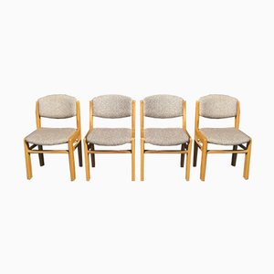 Chaises en Orme de Regain, 1980s, Set de 4