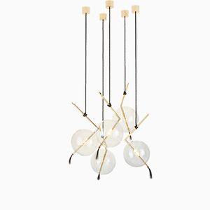 Lámpara de araña Nuvola con cinco luces de Silvio Mondino Studio