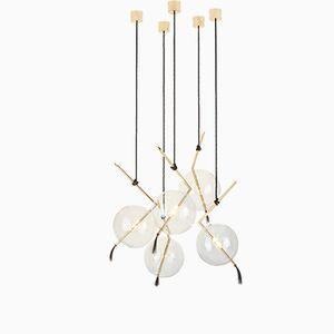 Nuvola Five-Light Customizable Chandelier from Silvio Mondino Studio