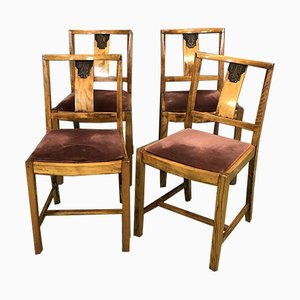 Vintage Oak Chairs, Set of 4