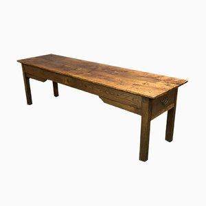 Antiker französischer Bauerntisch aus Ulmenholz