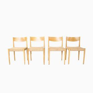 Dänische Esszimmerstühle aus Eiche, 1960er, 4er Set