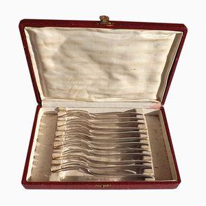 Forchette per escargot Art Déco di Christofle, anni '40, set di 12