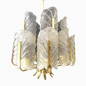 Glass Chandelier with 15 Lights by Carl Fagerlund for Orrefors, 1970s