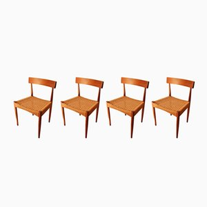 Danish Dining Chairs by Arne Hovmand Olsen for Mogens Kold, 1960s, Set of 4