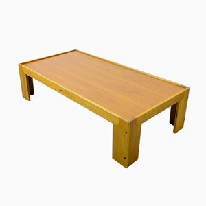 Italian Solid Wood Coffee Table by Tobia & Afra Scarpa for Cassina, 1970s
