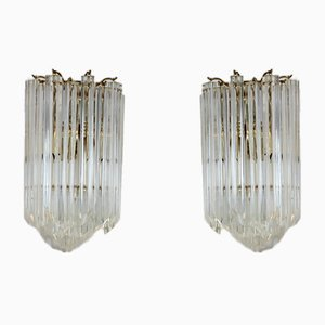 Brass & Murano Glass Sconces from Novaresi, 1980s, Set of 2