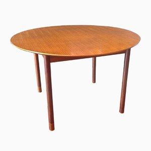 Mesa extensible redonda de teca de Borge Mogensen, años 50