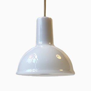 Lámpara colgante modelo Skyline pequeño de vidrio opalino de Sidse Werner para Royal Copenhagen, años 80