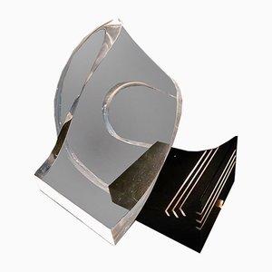 Lampada da tavolo scultorea in acrilico, anni '60
