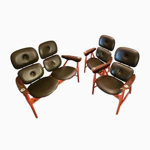 2-Seater Bench & 2 Armchairs from Poltronova, 1970s