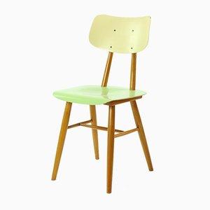 Stuhl in Grün & Creme von TON, 1960er