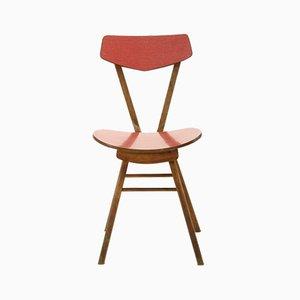 Tschechoslowakischer Stuhl aus Holz & Resopal, 1970er