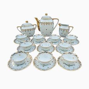 Limoges Porcelain Coffee Set from La Seynie, 1960s